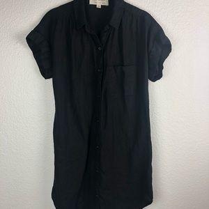 Cloth & Stone 100% Linen Short Sleeve Shirt Dress